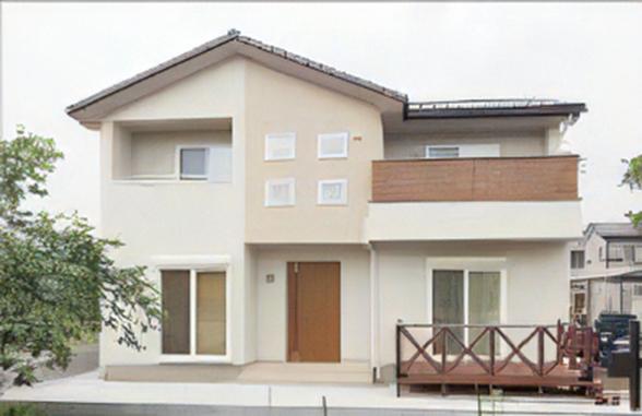 【川越市 K様邸】スクエア窓の印象的な外観、夏涼しく、冬暖かい家。