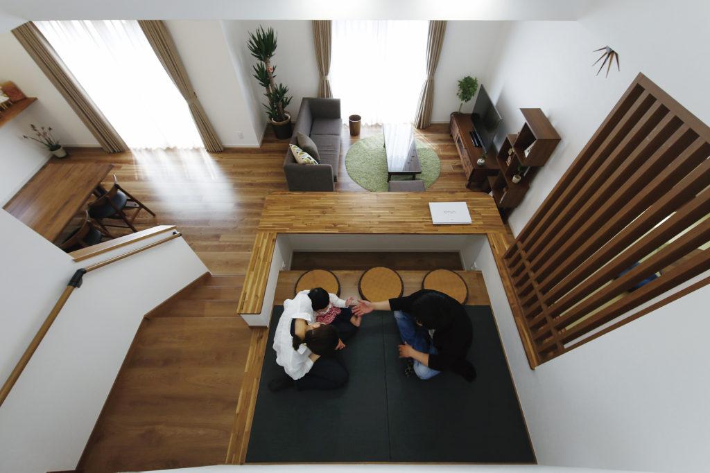 """【深谷市 S様邸】暖楽スペースをLDKの中心に、家族の""""笑顔""""が絶えない暮らし。"""
